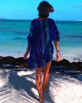 Tunique Bleu indigo turquoise